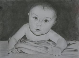 Babyportrait in Bleistift / Babyportrait pencil